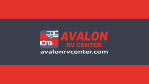nice graphic with the avalon rv center logo and website on it