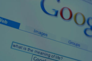 photo of the google search bar