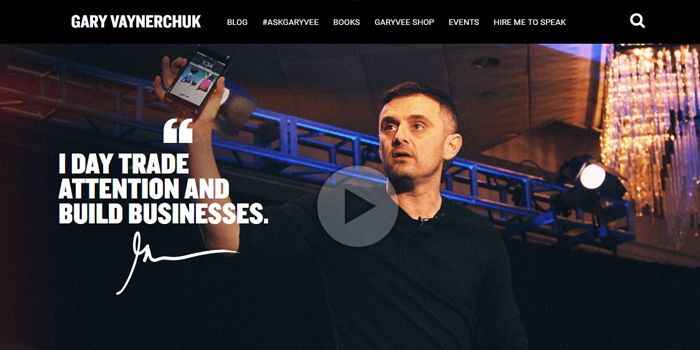 gary vaynerchuk internet marketing tips, picture of the gary vaynerchuk homepage for internet marketing tips