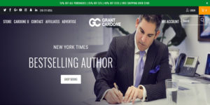 grant cardone internet marketing tips, picture of grant cardone homepage