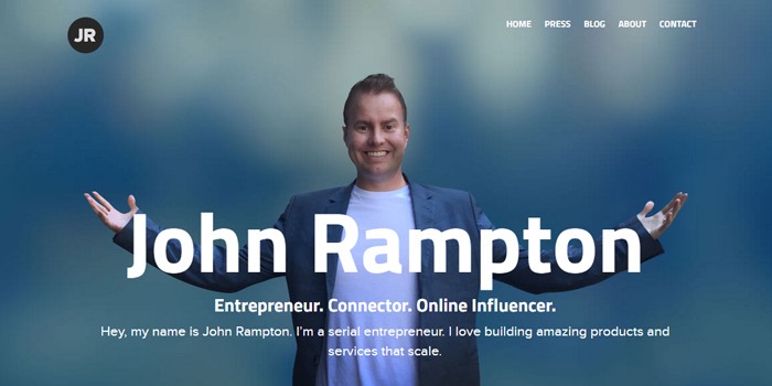 internet marketing tips, picture of john rampton website, john rampton internet marketing genius