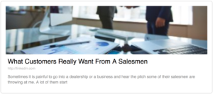 what customers really wants from a salesmen, what customers want, sales talk