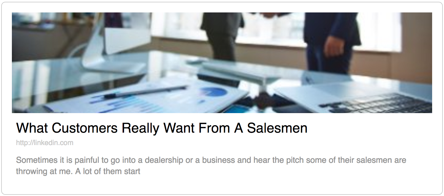 what customers really want from a salesmen, sales talk, what customer want