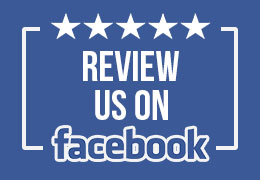 im review us on facebook, picture of 5 stars and says review us with the facebook logo