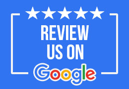 imr review us on google, picture with 5 stars that says review with the google logo