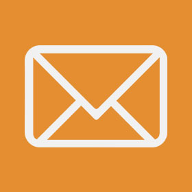orange square email icon
