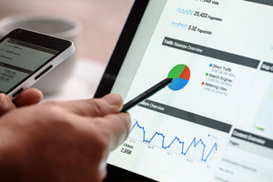 dealership marketing picture of a google analytics graph for search engine optimization