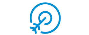 blue icon of a target for social media strategy.png