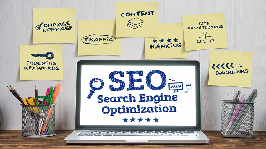 showing all of the different factors that go into search engine optimzation